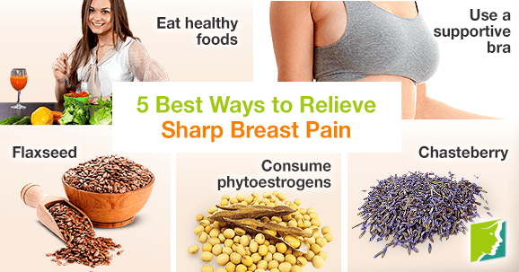 5 best ways to relieve sharp breast pain