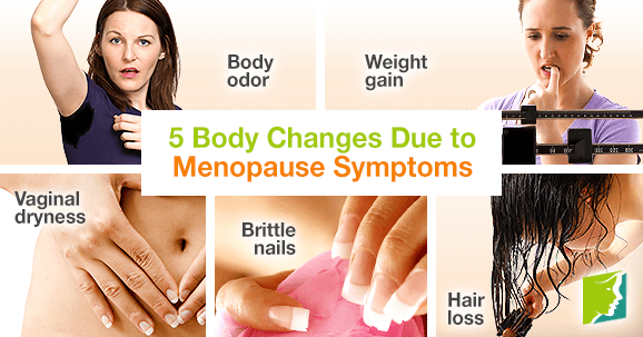 5 body changes due to menopause symptoms.