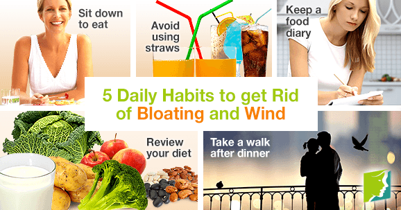 5 Daily Habits to get Rid of Bloating and Wind