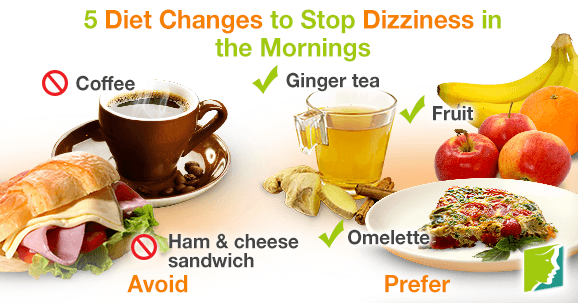5 diet changes to stop dizziness in the mornings.