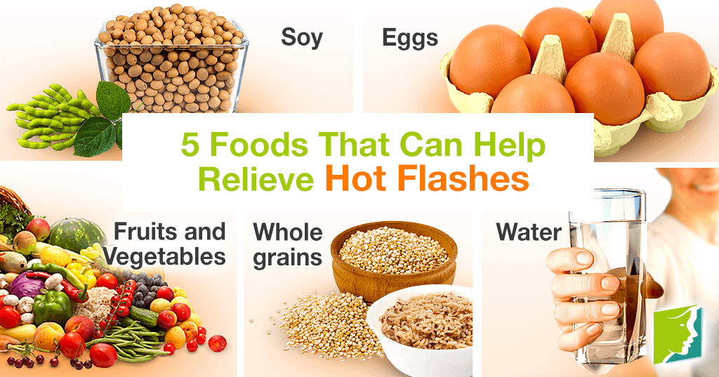 5 foods that can help relieve hot flashes