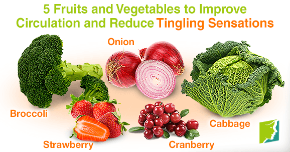 5 fruits and vegetables to improve circulation and reduce tingling sensations