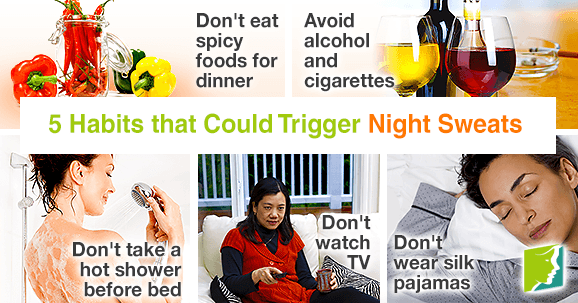 5 Habits that Could Trigger Nights Sweats