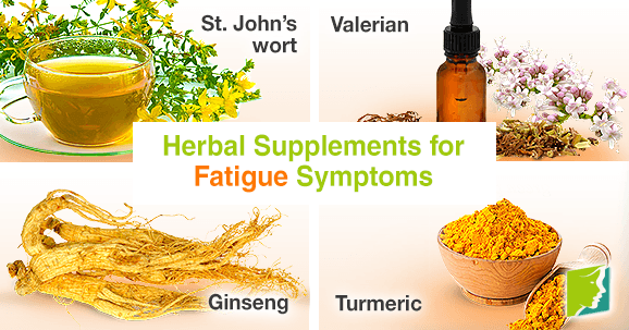 Herbal supplements for fatigue symptoms