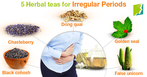 5 Herbal teas for Irregular Periods