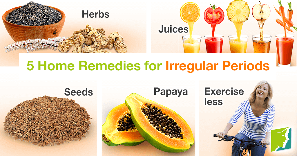 5 home remedies for irregular periods