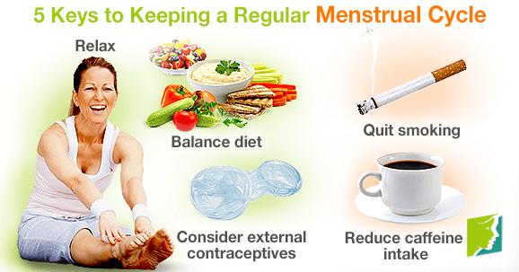 5 Keys to Keep a Regular Menstrual Cycle