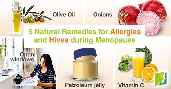 5 natural remedies for allergies and hives during menopause