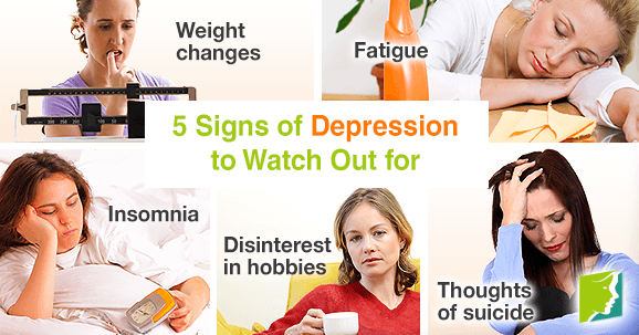 5 Signs of Depression to Watch Out for