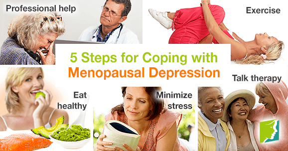 5 steps for coping with menopausal depression