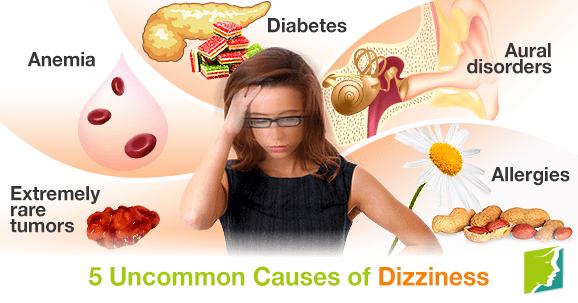 uncommon causes of dizziness,