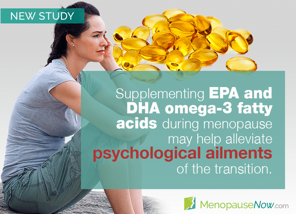 Study: Omega-3 fatty acids reduce psychological ailments of menopause