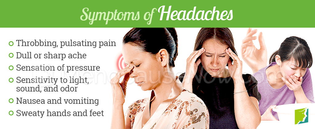 Symptoms of headaches