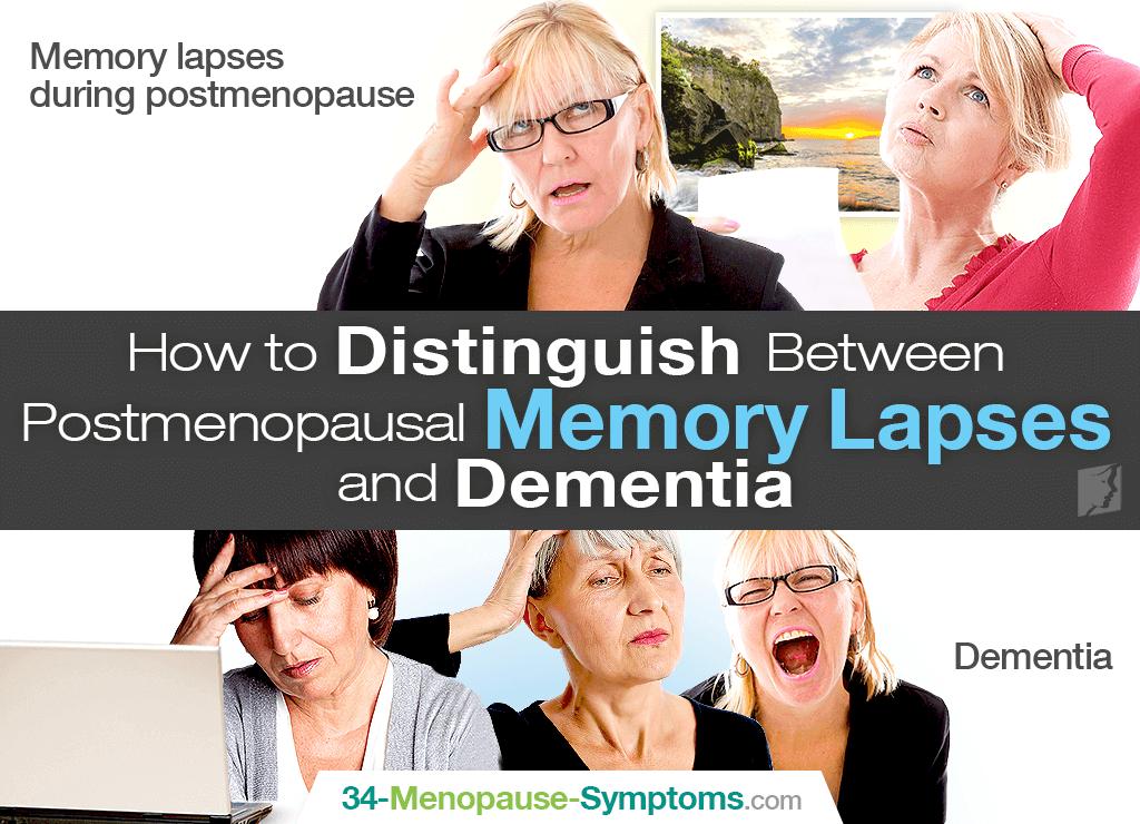 How to Distinguish Between Postmenopausal Memory Lapses & Dementia