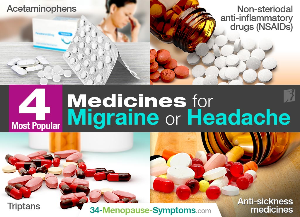 4 most popular medicines for migraine or headaches