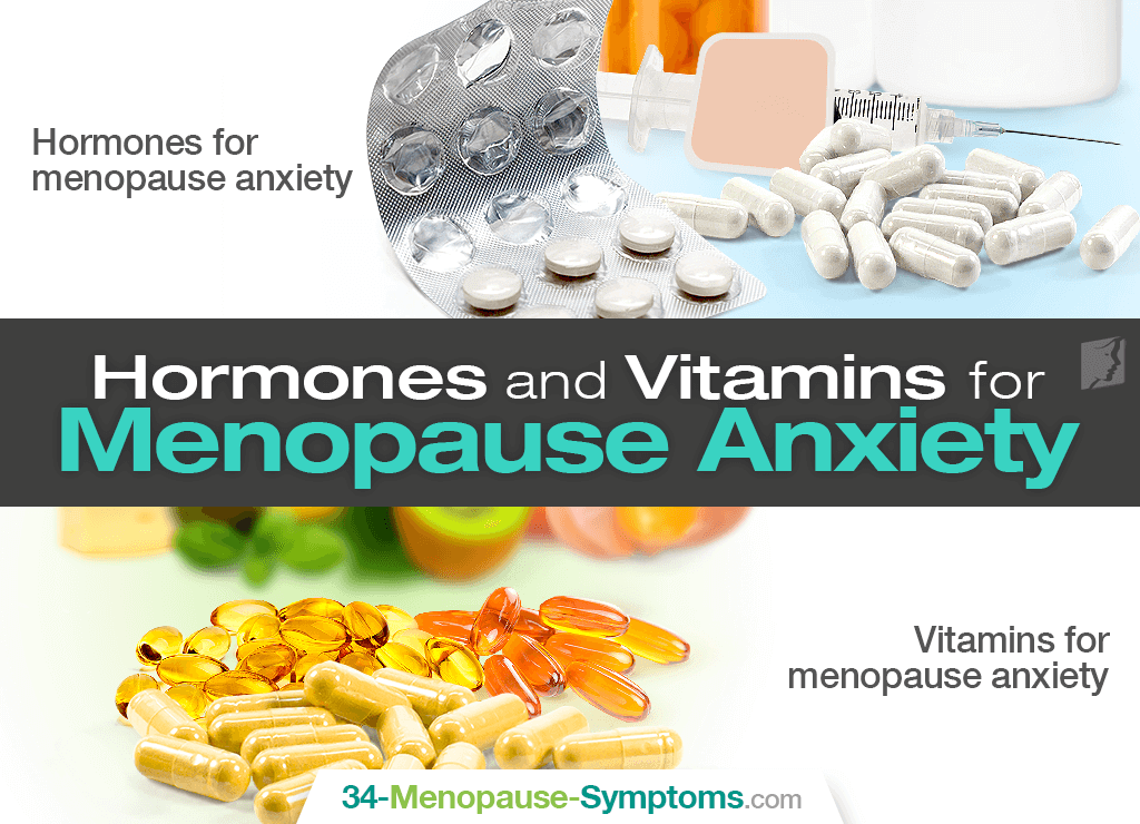 HRT and vitamins for menopause anxiety