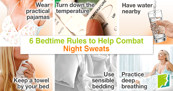 6 bedtime rules to help combat night sweats