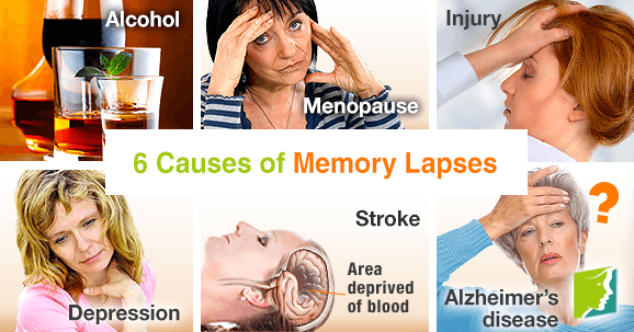 6 causes of memory lapses