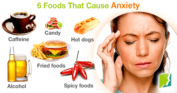 anxiety foods cause symptoms avoid healthy