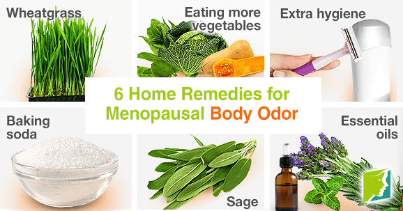 6 Home remedies for menopausal body odor