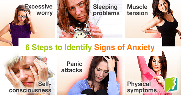 6 steps to identify signs of anxiety