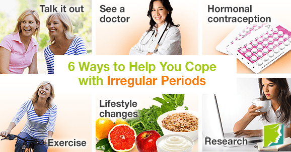 6 ways to help you cope with irregular periods