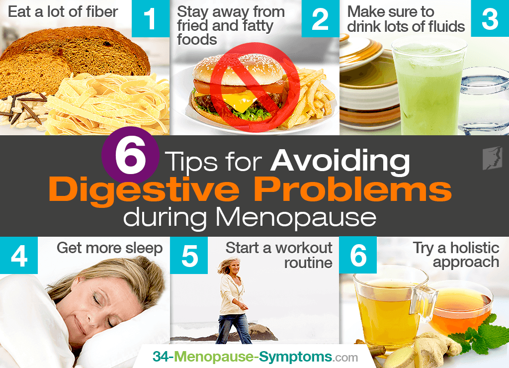 6 tips for avoiding digestive problems during menopause