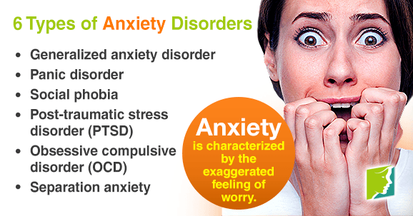 6 Types of Anxiety Disorders | Menopause Now