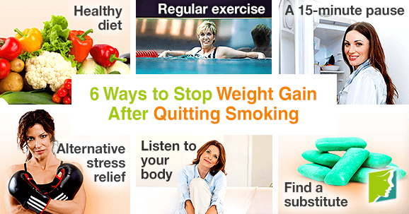 6 ways to stop weight gain after quitting smoking