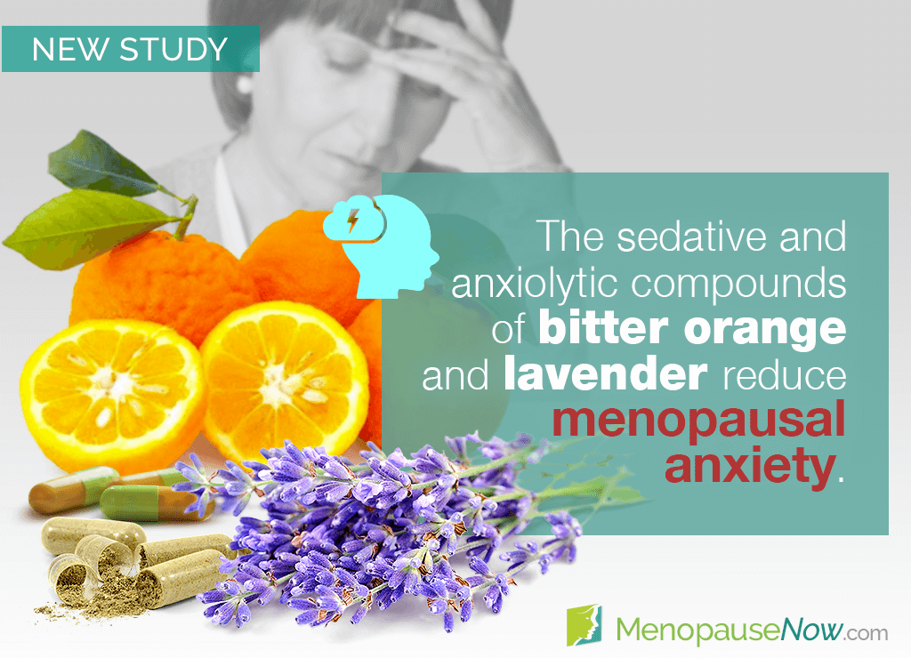 Study: Postmenopausal anxiety reduced with bitter orange and lavender