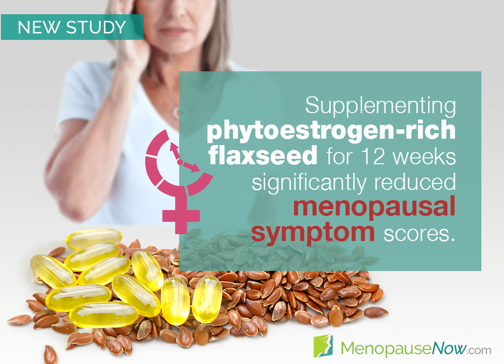 Study: Menopause symptom scores reduced with flaxseed