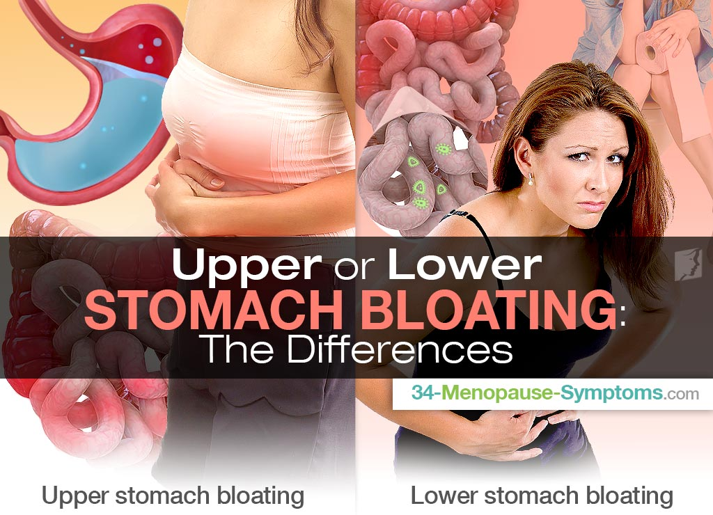 Upper or Lower Stomach Bloating: The Differences