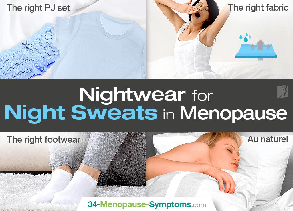 Nightwear for night sweats