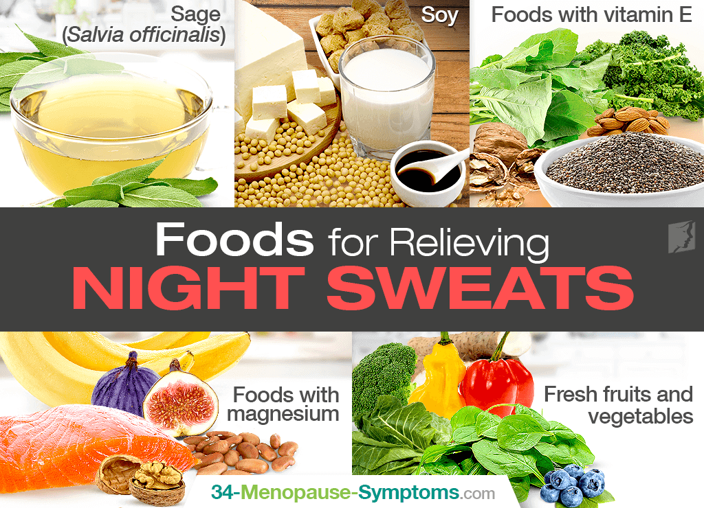 Change Your Diet to Stop Menopausal Night Sweats