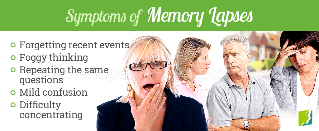 Symptoms of memory lapses