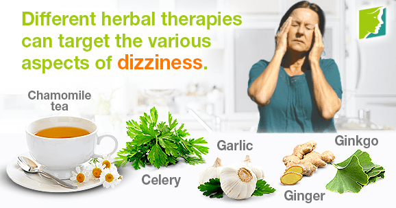 Different herbal therapies can target the various aspects of dizziness.