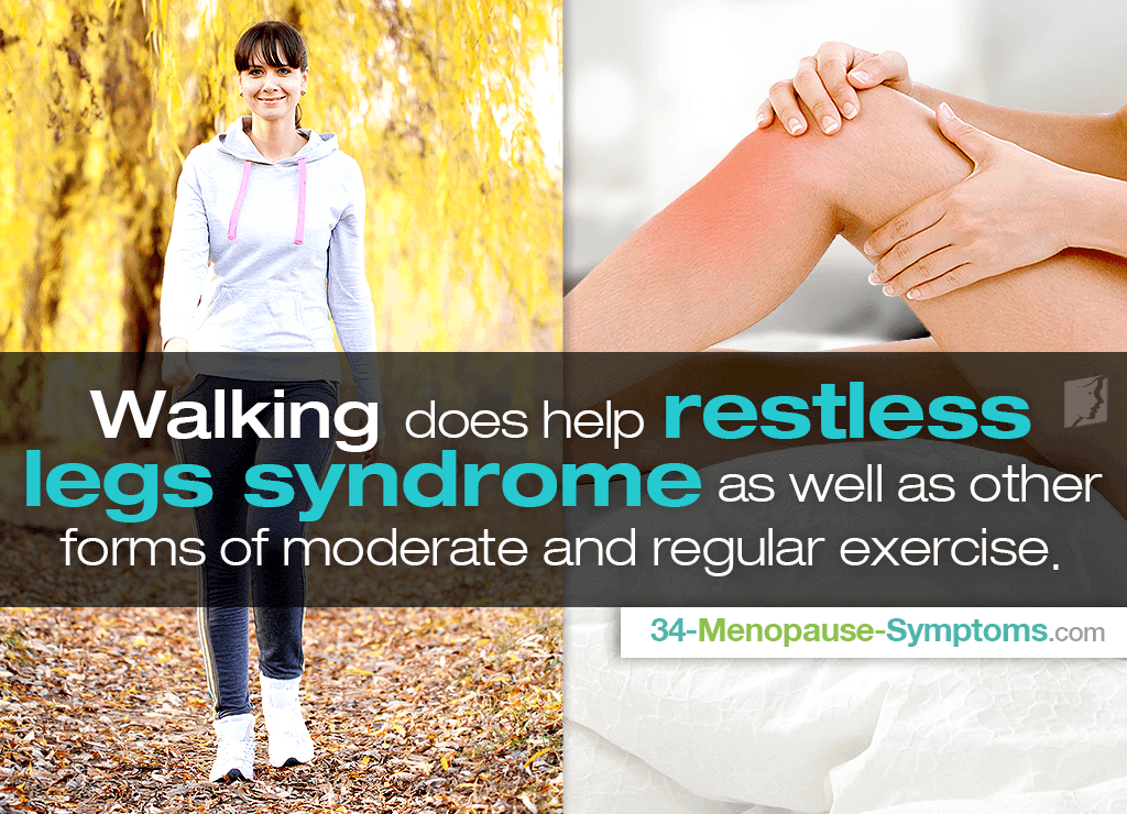 does walking help restless leg syndrome