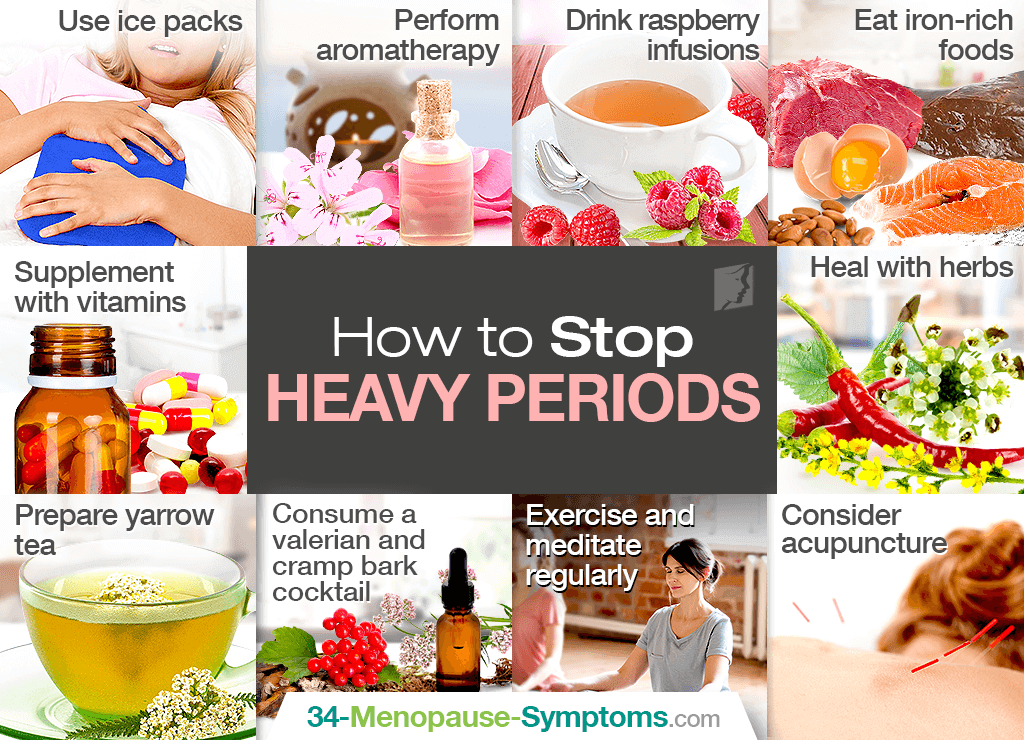 How to stop heavy periods