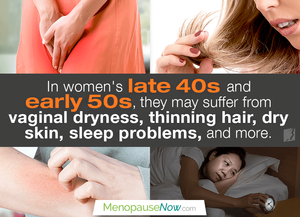 Menopause Symptoms: Late 40s and Early 50s