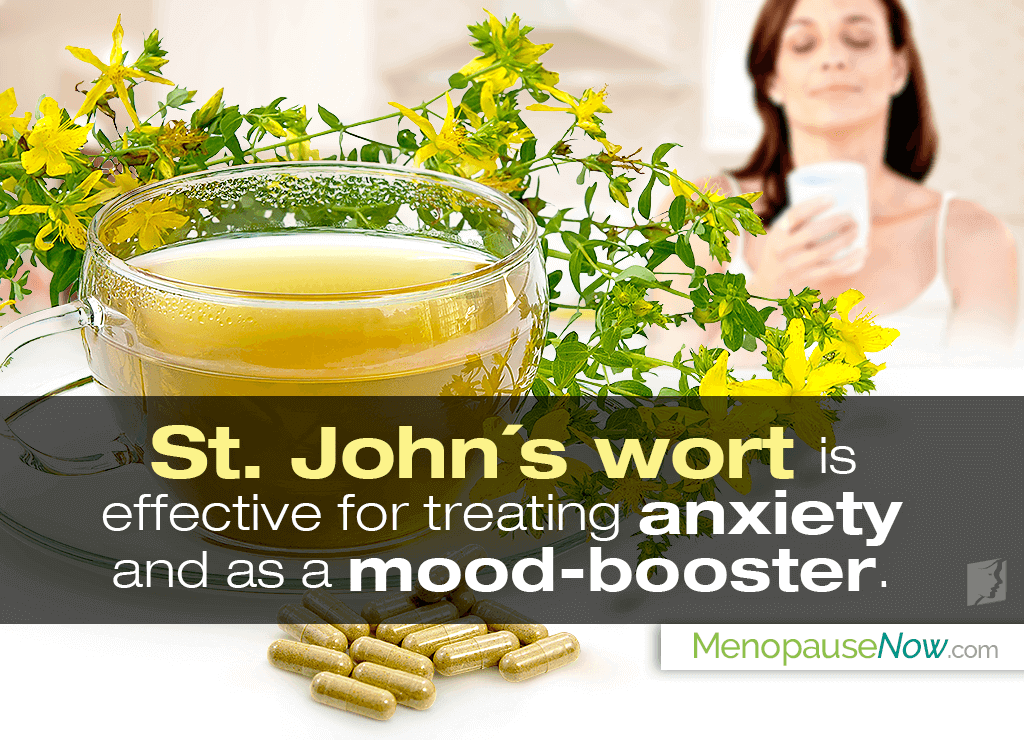 St. John's wort is effective for treating anxiety and as a mood–booster