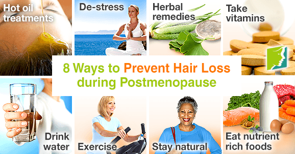 8 ways to prevent hair loss during postmenopause