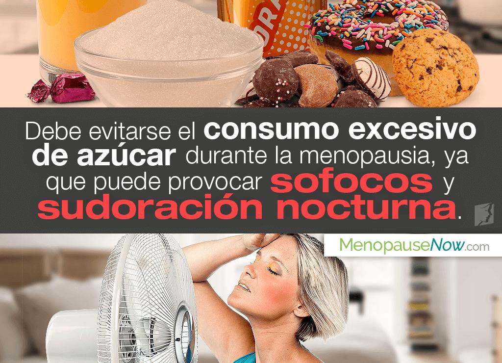 Exceso de azúcar, sofocos y sudoración nocturna