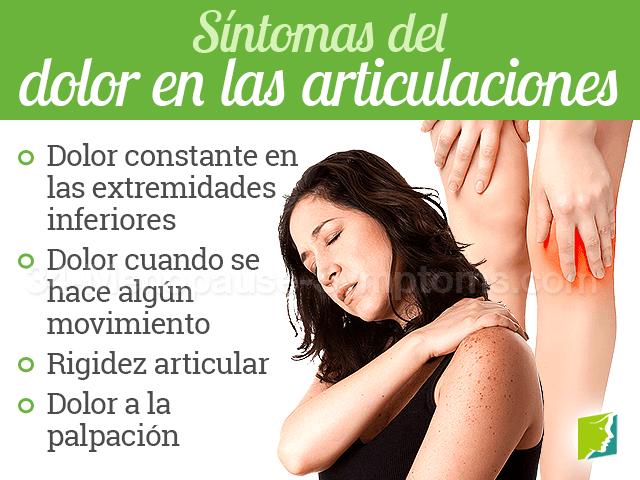 Síntomas del dolor en las articulaciones