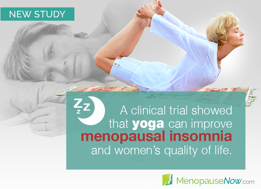 Study: Menopause insomnia and womens' quality of life improved by yoga