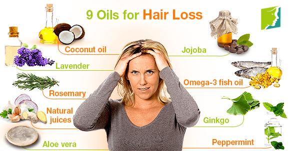 9 Oils for Hair Loss