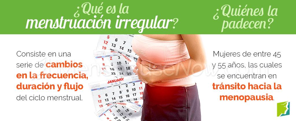 Que es la menstruación irregular