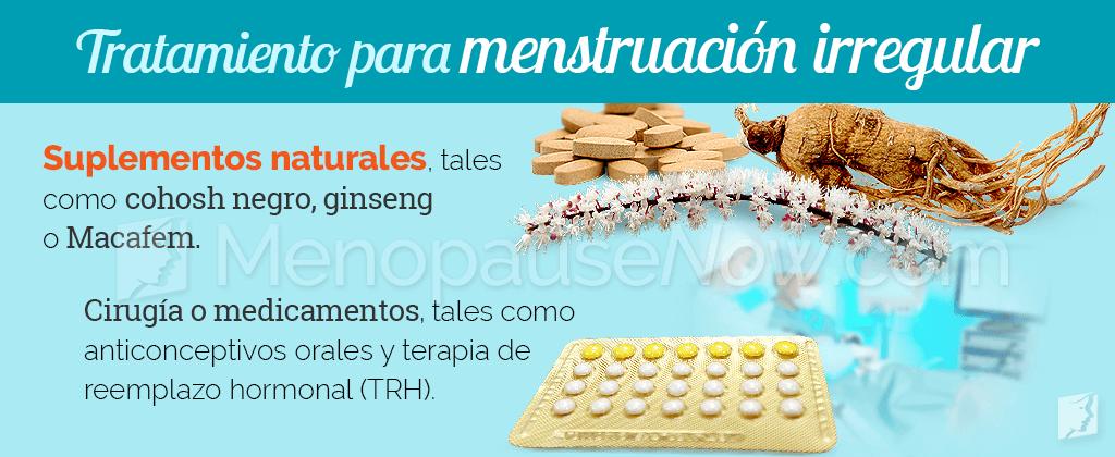 Tratamiento para la menstruación irregular