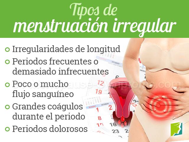 tipos de menstruación irregular