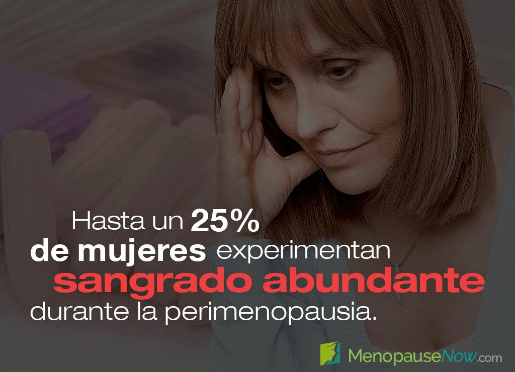 Períodos irregulares con sangrado menstrual abundante durante la perimenopausia