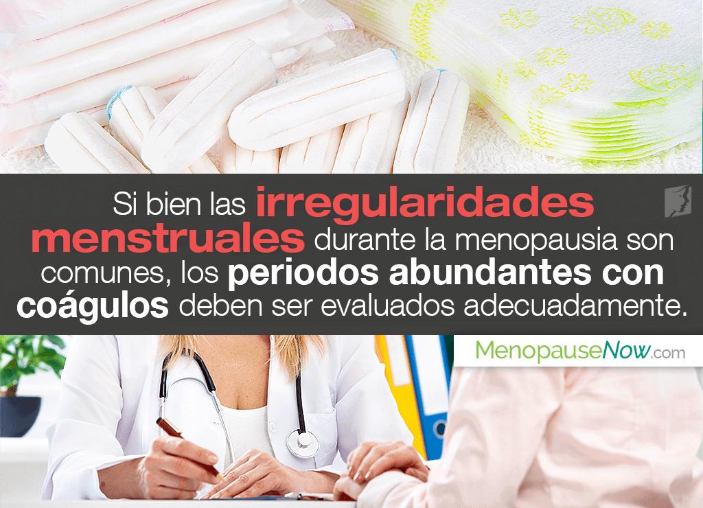 Menstruación irregular con coágulos
